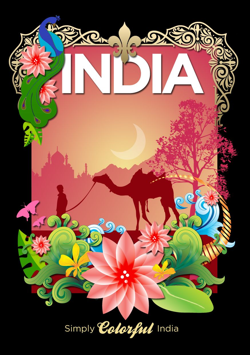 Colors of india India poster, Incredible india posters