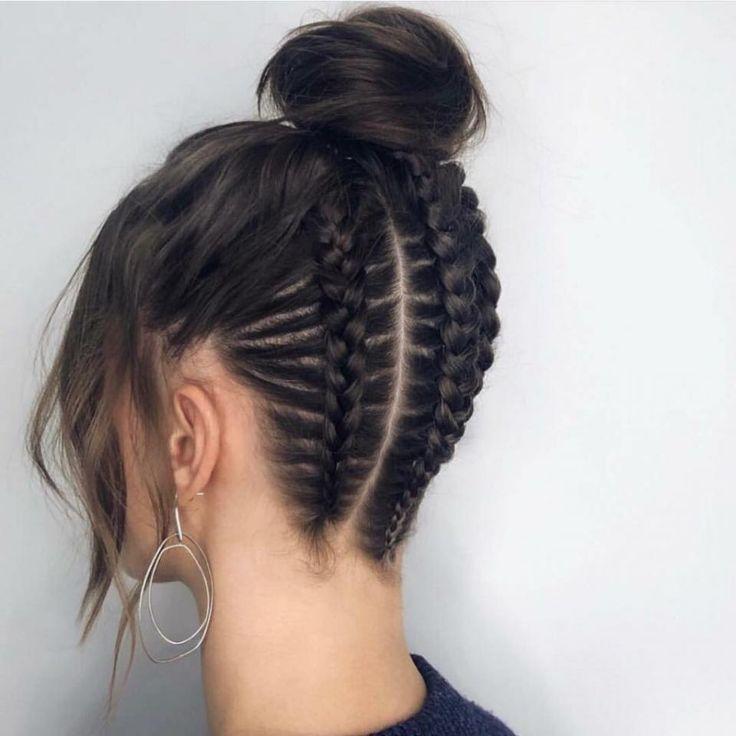 Coupes de cheveux retour - Retour à l'école de bal coiffures noir tressées chignons - Site