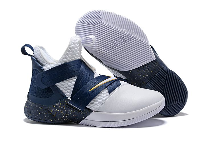 ecbd93e77a929 Nike LeBron Soldier 12 XII SFG White Midnight Navy-Mineral Yellow Basketball  Shoes