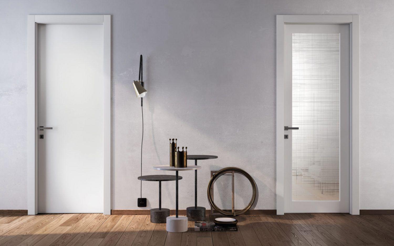 White Wood Door coordinated with Glass Door by Garofoli ...