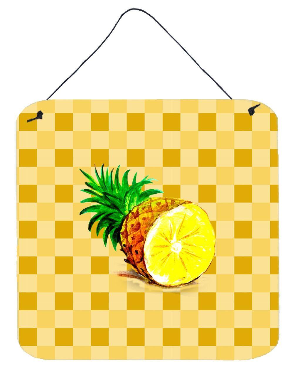 Top of pineapple cut on basketweave wall or door hanging prints