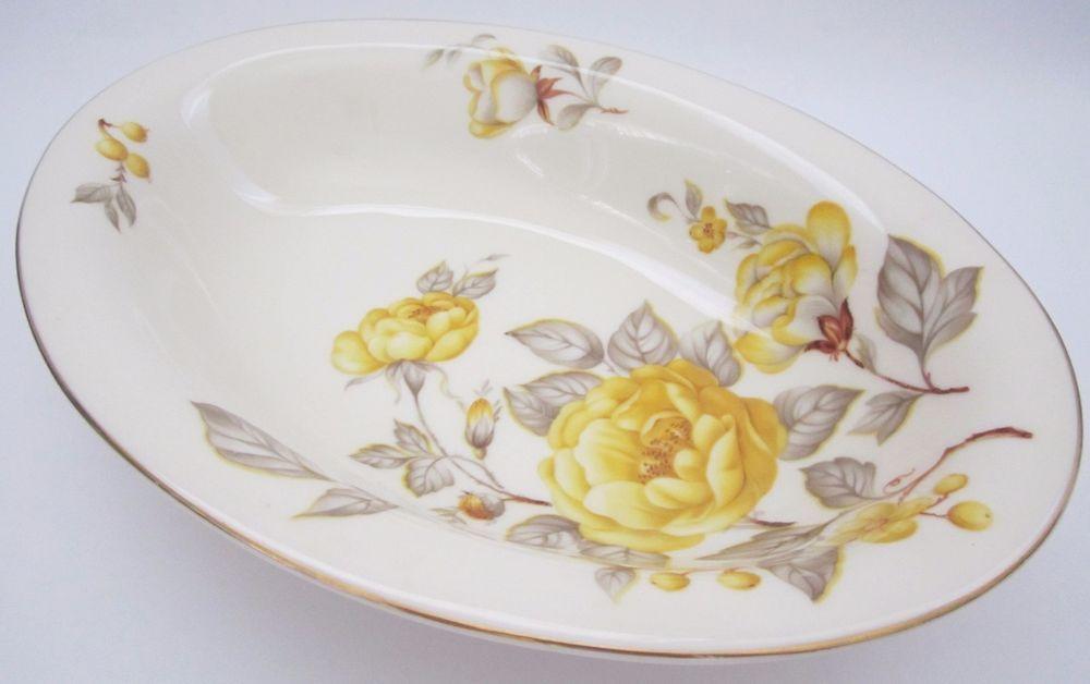 "Castleton China Mayfair Yellow Rose 10"" Oval Serving Bowl Rosenthal Molds 1950 | Pottery & Glass, Pottery & China, China & Dinnerware | eBay!"