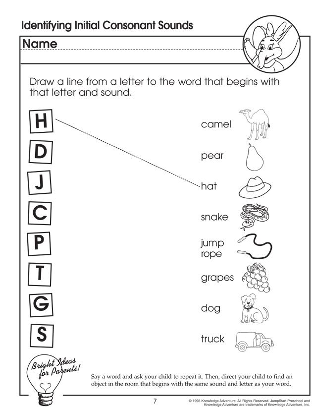 Worksheets Phonics Worksheets For Preschool identifying initial consonant sounds a for apple phonics worksheet preschoolers jumpstart