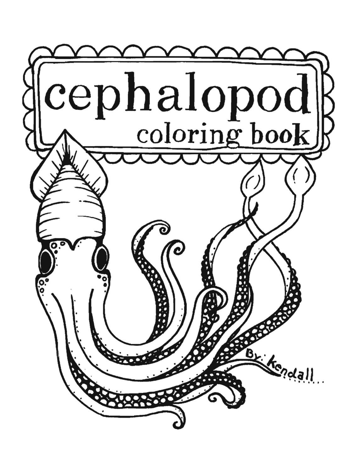 Pin By Sam Taylor On Cephalopod Coloring Books Cephalopod
