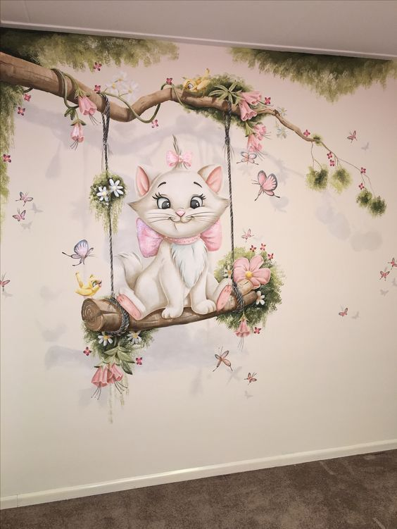 Kätzchen-Funktionswand für Kinderzimmer - #für #KätzchenFunktionswand #Kinderzimmer #nursery #disneyhousedecor