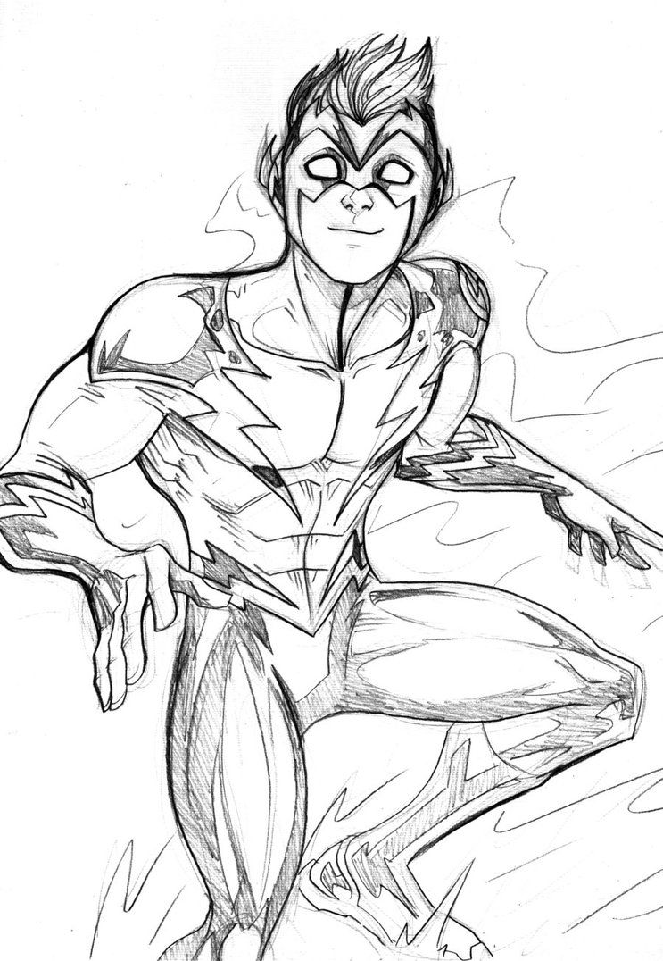kid flash sketch by lucianovecchio on deviantart