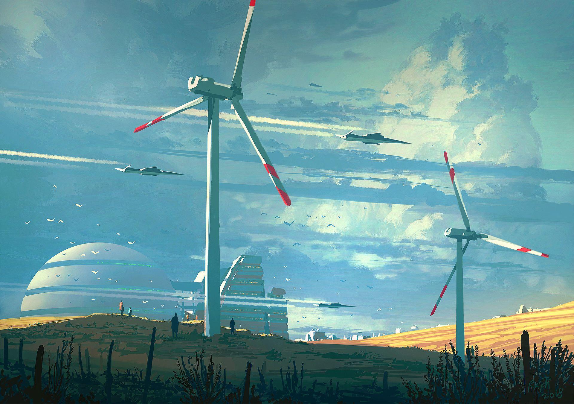 9907e6310897 ArtStation - Wind Mills