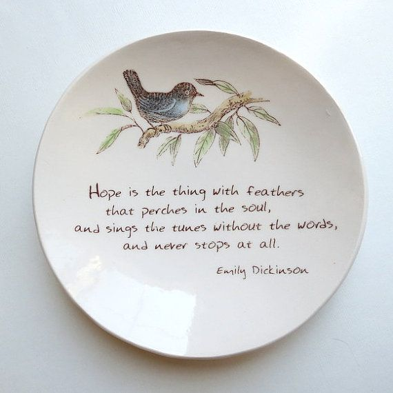 Hope Is The Thing With Feathers Emily Dickinson By Neceramics