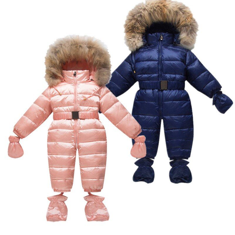 021a6b0589b8 Children Newborn Winter Rompers Duck Down Jumpsuit Kids Clothing Baby  Clothes Snow Wear Boy Girl Snowsuit