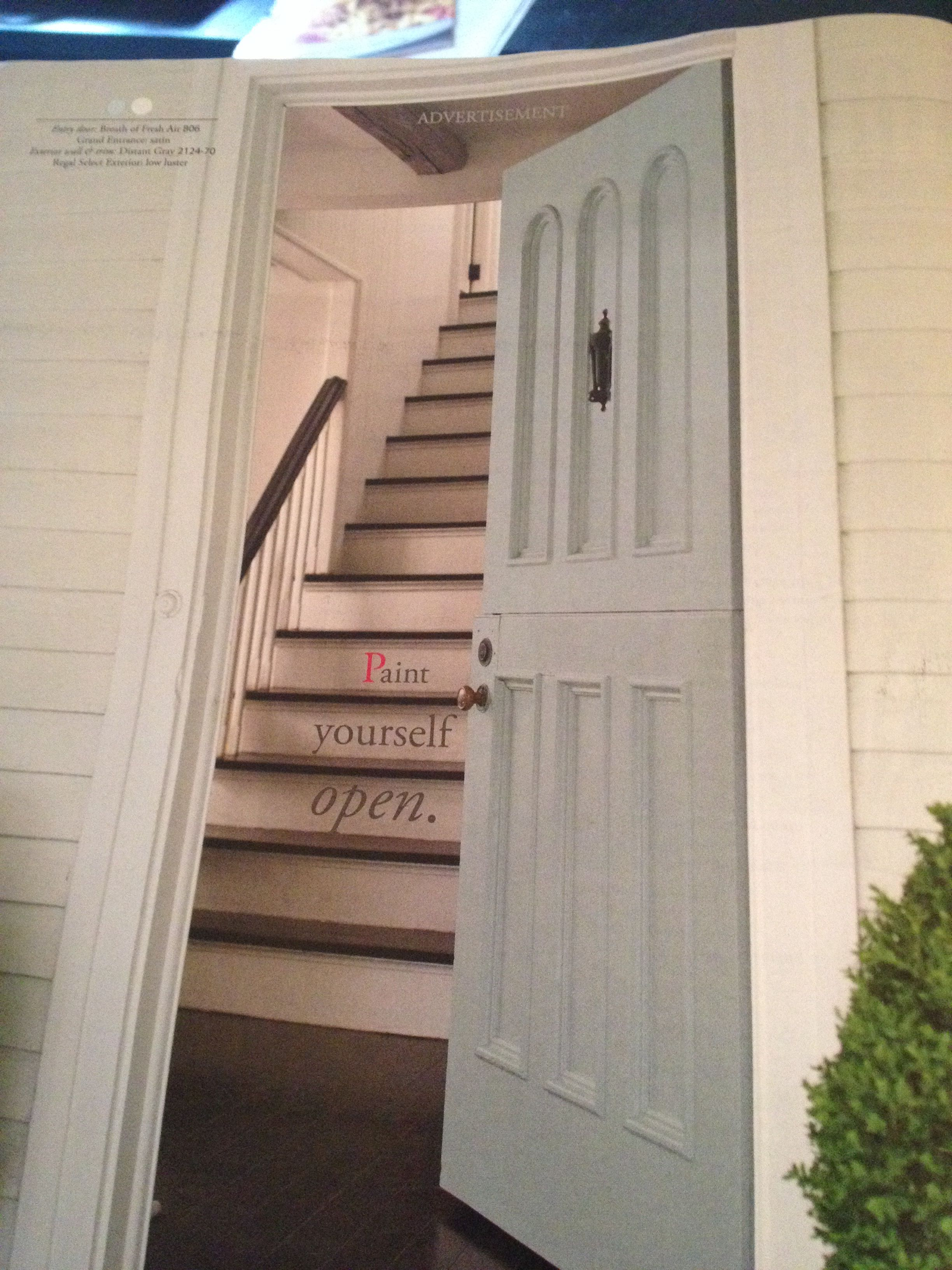 Great front door color Benjamin Moore breath of fresh