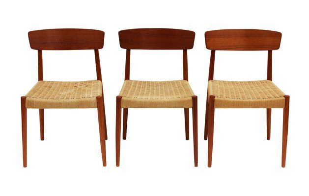 CHAIR SET  Danish Teak Dining   Nueve  Grand Rapids Michiganu0027s Best Mid Century  Modern And Decorator Furniture Store
