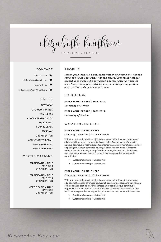 Creative Resume Template Modern Resume Design For Word Etsy Modern Resume Resume Template Sorority Resume