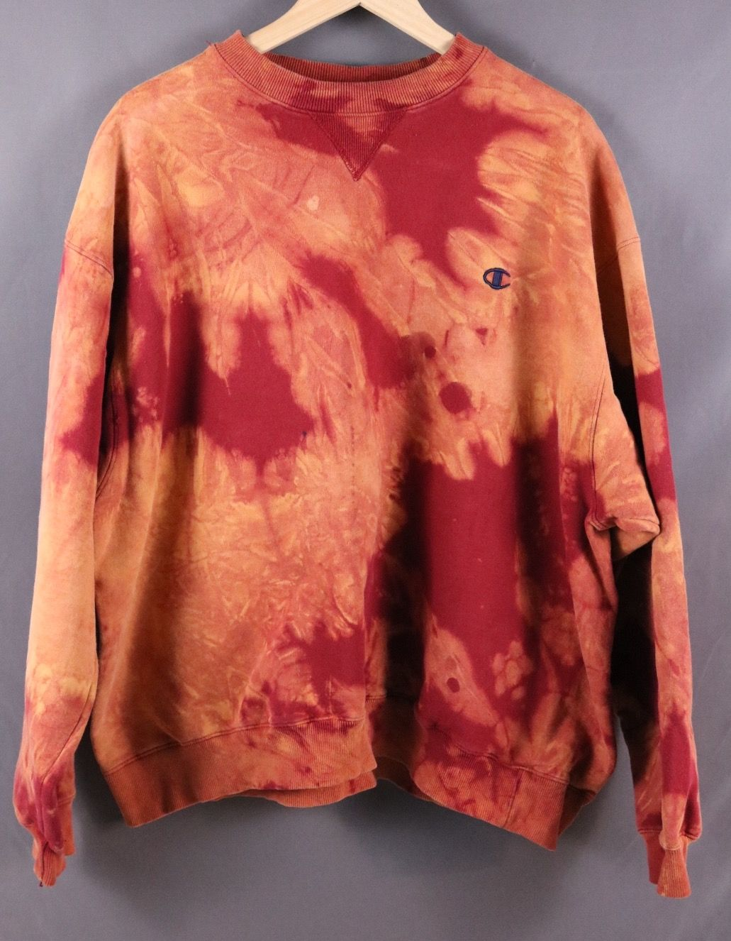 6d2882ef Custom Bleached Champion Pullover Crew Sweatshirt | Hand Bleached ...