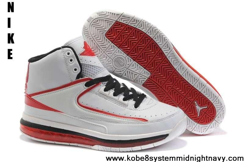 timeless design e71c5 a7bab Buy Discount Original Air Cushion White Black Red Nike New Jordans 2(II)  Retro Sports Shoes Store
