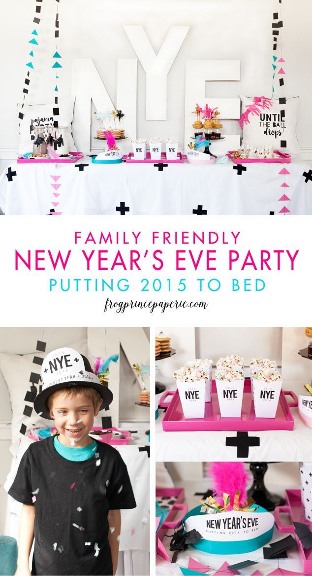Family New Years Eve Party Pajama Party Down Frog Prince Paperie Family New Years Eve New Years Eve Party New Years Eve
