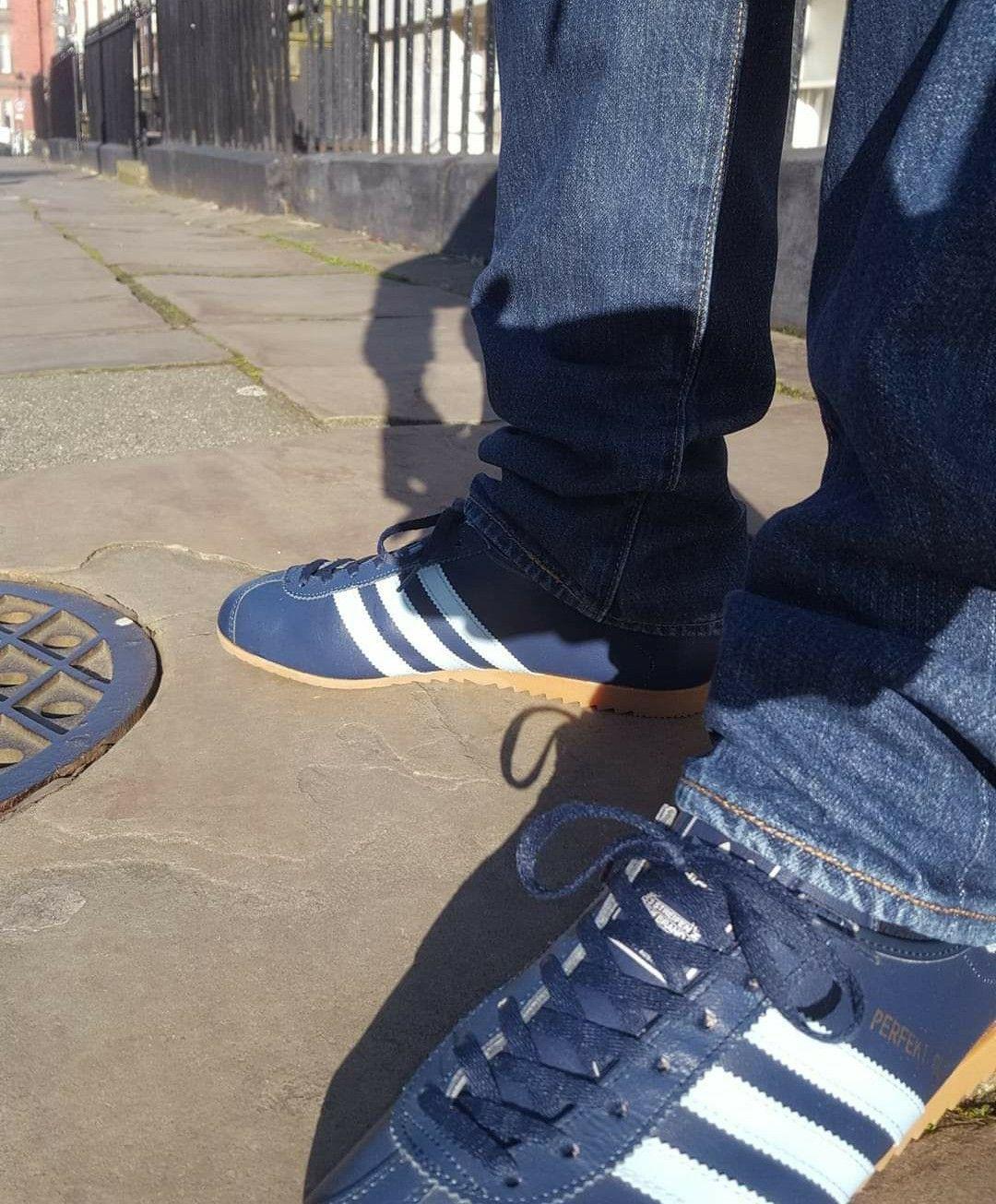 Vintage Austrian made Adidas Perfekt on feet on the street