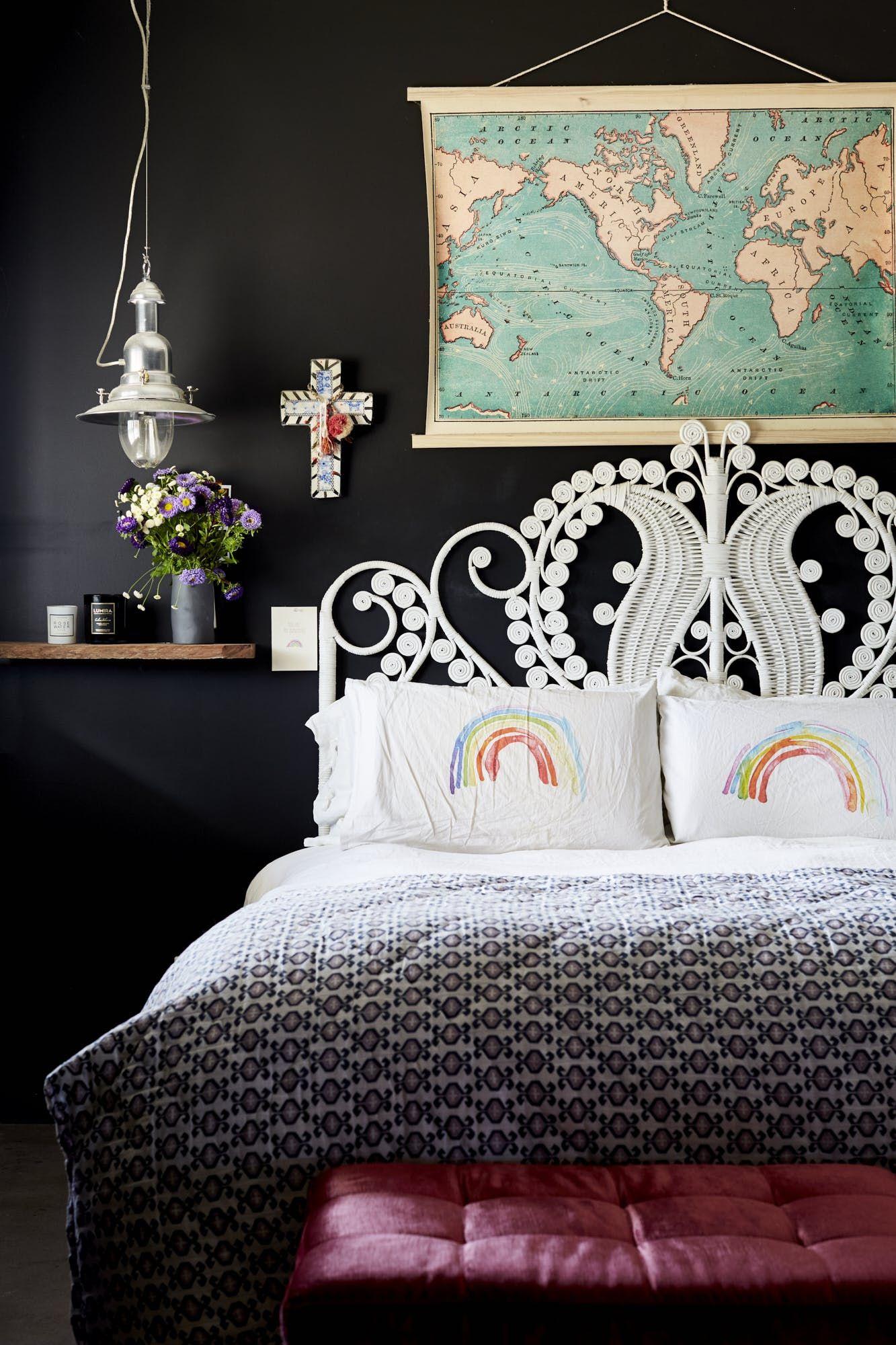 Black Wicker Bedroom Set