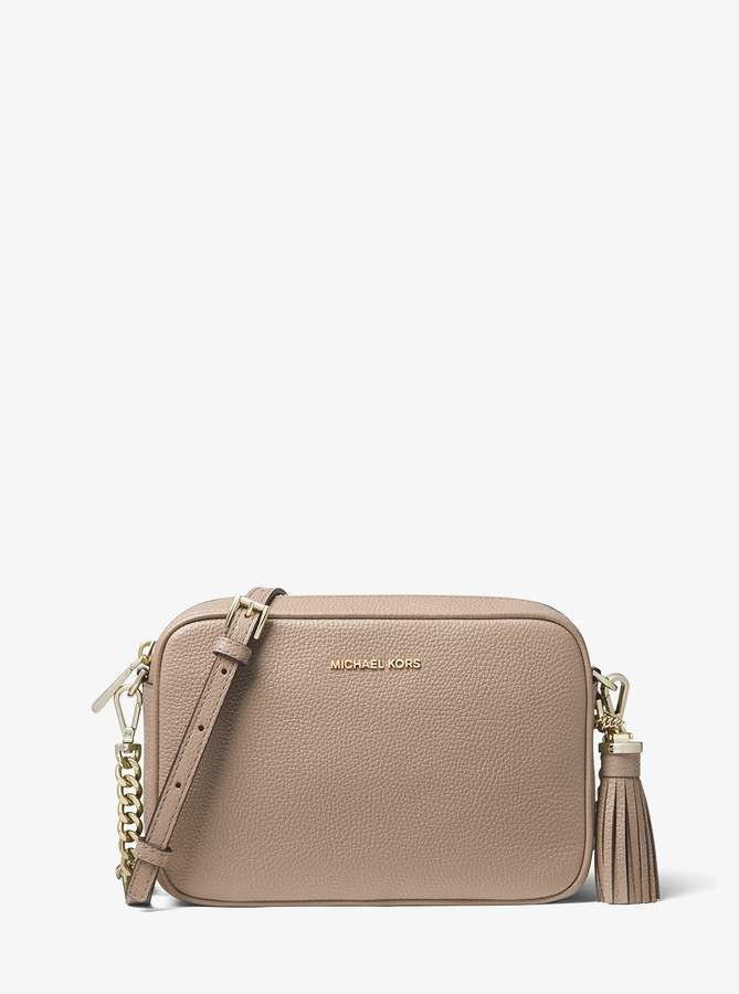 a197d5c2e3bbe1 Ginny Medium Pebbled Leather Crossbody #chain#link#accents. MICHAEL Michael  Kors Ginny Medium Pebbled Leather Crossbody Logo ...
