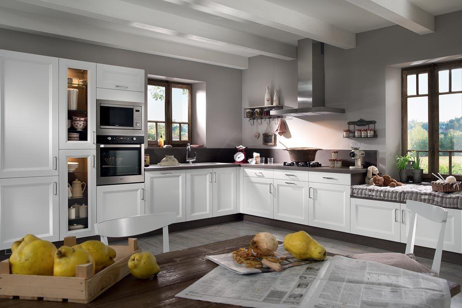 cosy sol gris meuble blanc et murs gris. Black Bedroom Furniture Sets. Home Design Ideas