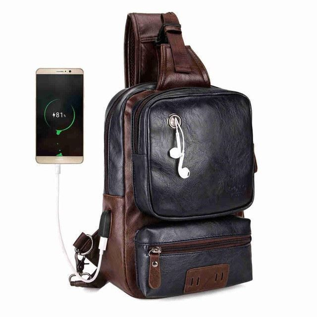 Crossbody Bags Male Shoulder Bags Usb Charging Crossbody Bags Men Anti Theft Chest Bag School Short Trip Messengers Bag For Outdoor Sports Luggage & Bags