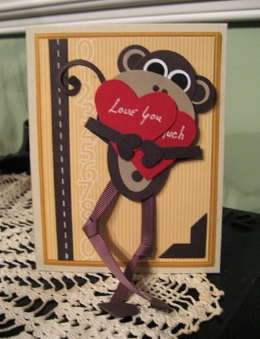A Little Monkey Business Valentines Cards Monkey