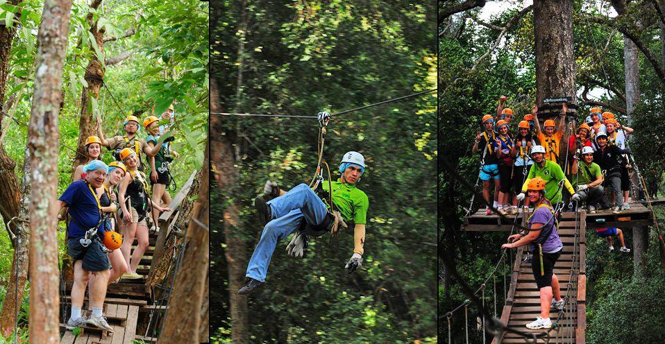 Jungle Flight Eco Adventures Zipline Atv Ziplining Chiang Mai Thailand