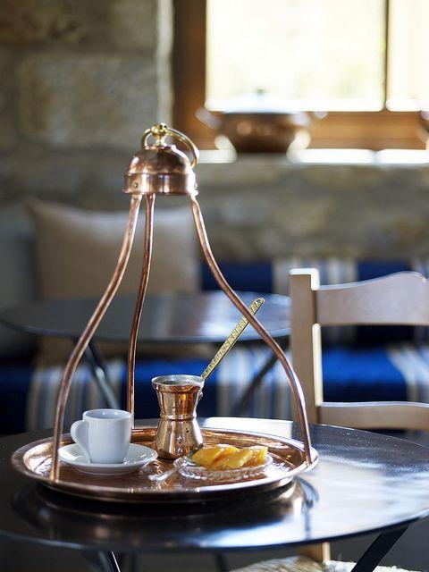 Greek coffee ritual - awakening of the senses