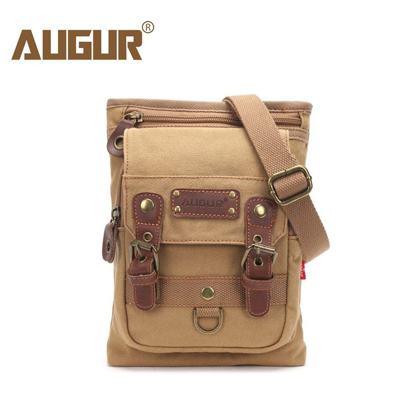 a7905b2f09 AUGUR New Male Small Canvas Crossbody Bag Multifunction Tool Functional Bag  Men Shoulder Designer Messenger Travel