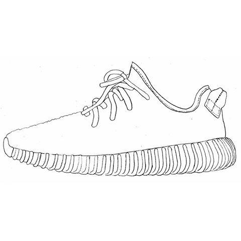 Yeezy Sneaker Clip Art