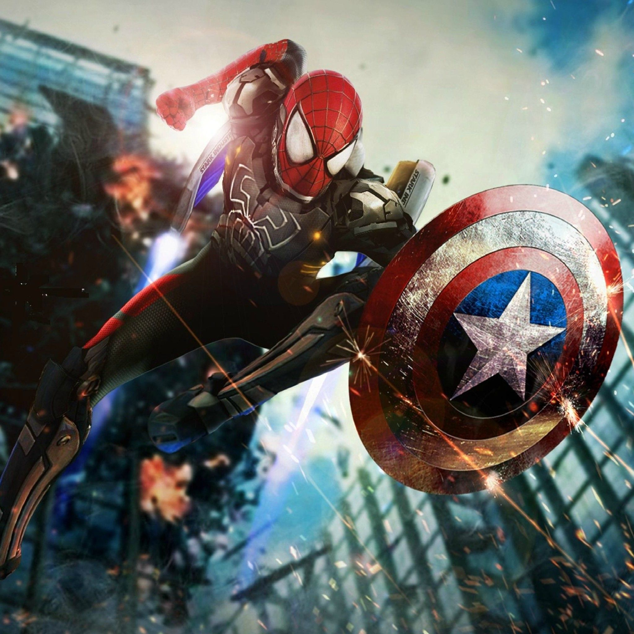 Spiderman Or Captain America Tap To See More Civil War IPhone IPad Android Wallpapers Backgrounds Fondos Mobile9