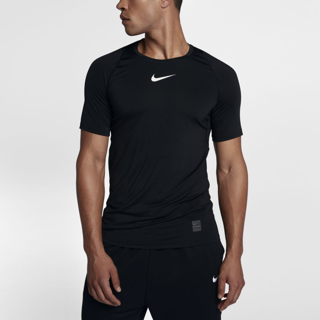 0547db365 Nike Pro Men s Short-Sleeve Fitted Top Size S Tall (Black)