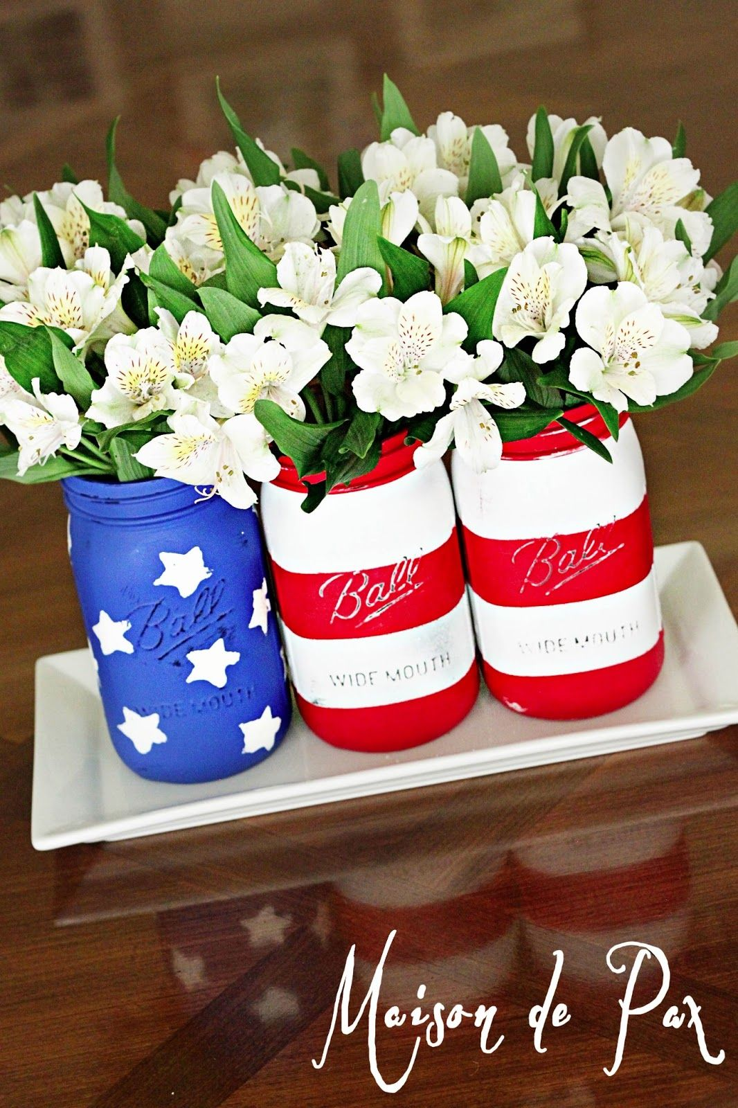 American flag mason jars flags holidays and crafts