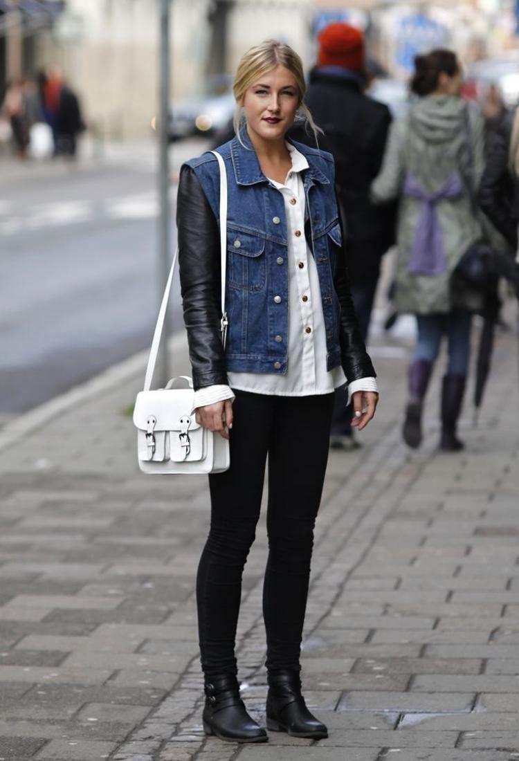 Veste jeans femme blanche