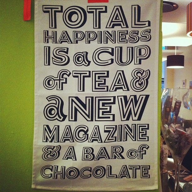 Total happiness is...