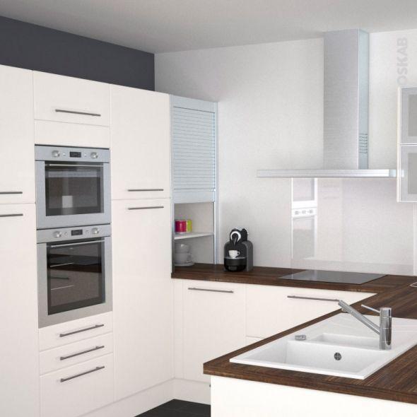 Meuble rideau cuisine petit déjeuner coulissant Volet aluminium, L60 ...
