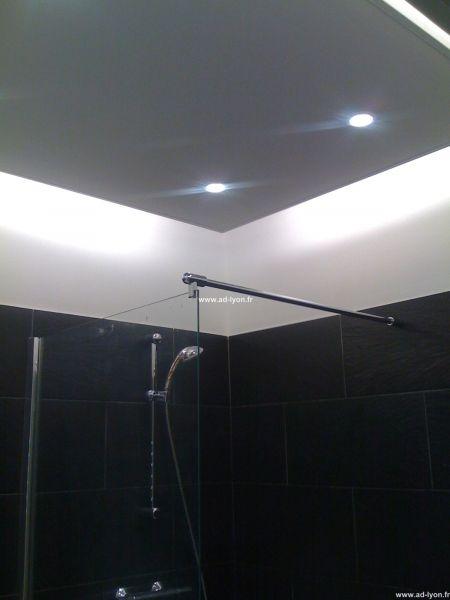 Faux plafond design dans une salle de bain Faux plafond Pinterest - faux plafond salle de bain