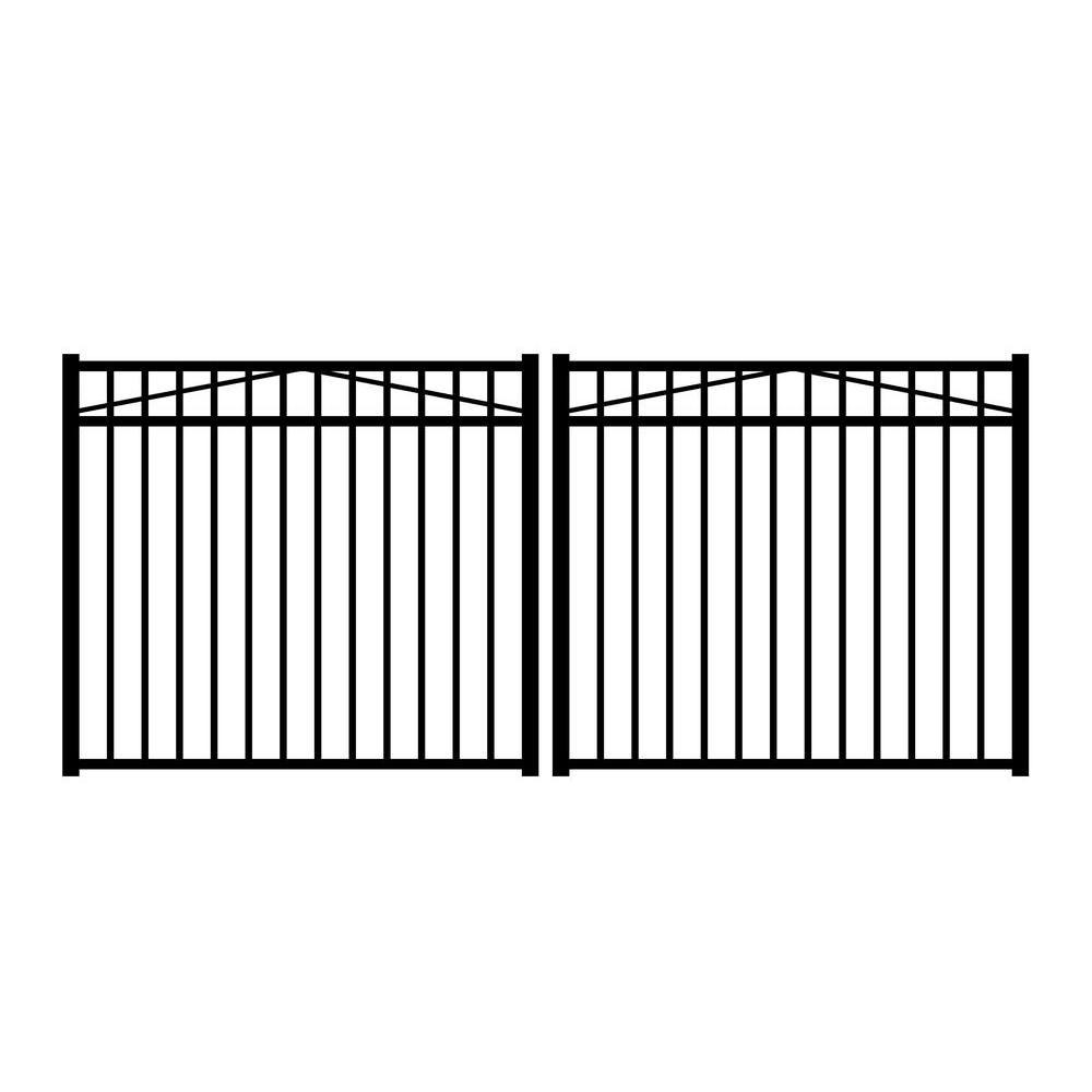 Best Jefferson 10 Ft W X 4 5 Ft H Black Aluminum 3 Rail 400 x 300