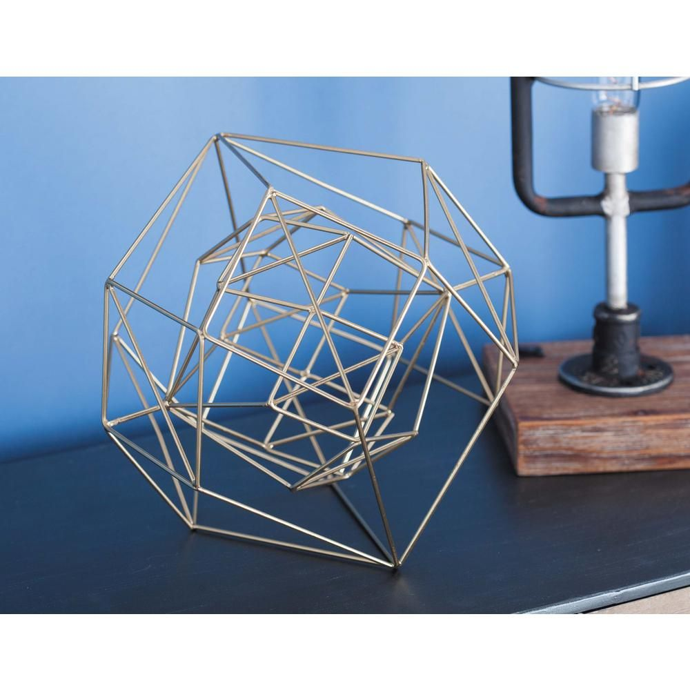 Litton Lane 8 In. Dia Abstract Wire Sphere Decorative