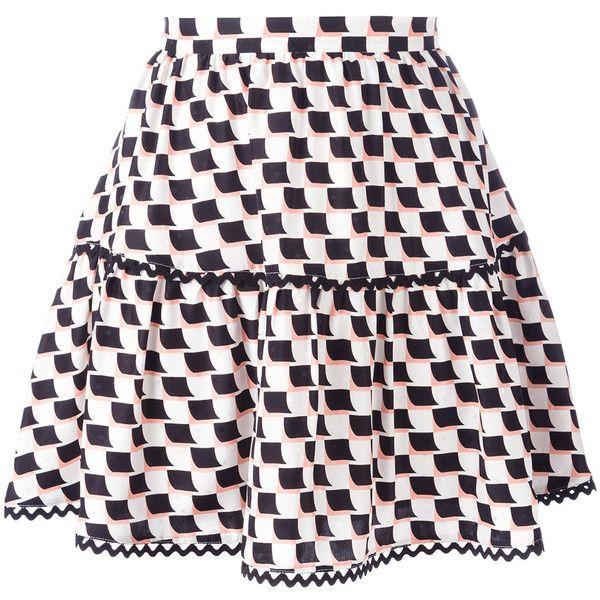Kenzo Post-It mini skirt (€205) ❤ liked on Polyvore featuring skirts, mini skirts, bottoms, black, high-waist skirt, silk skirts, kenzo and short mini skirts