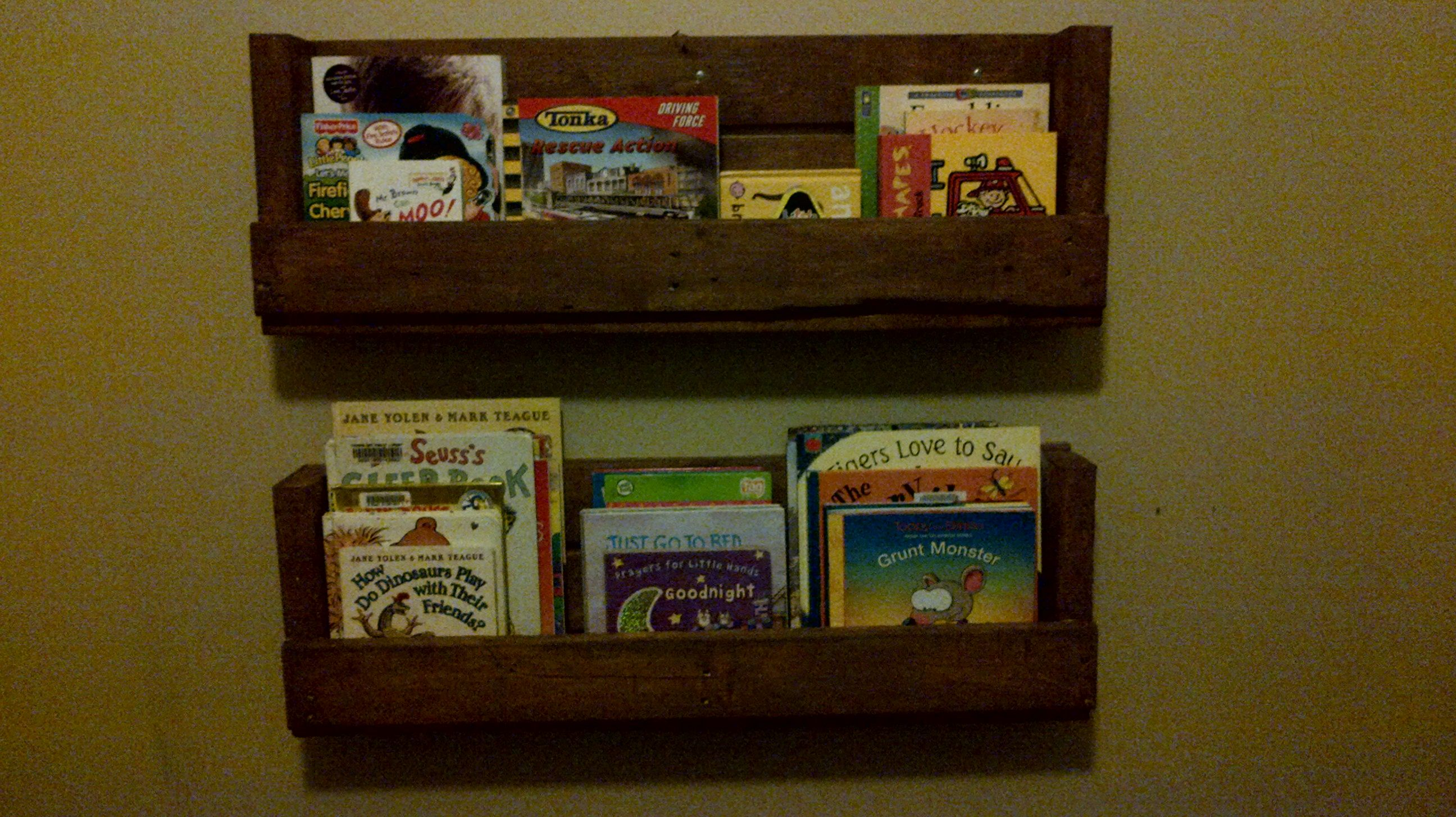 Superb img of Book shelves made from wood pallets. Crates & Pallets Pinterest with #2F200A color and 2592x1456 pixels