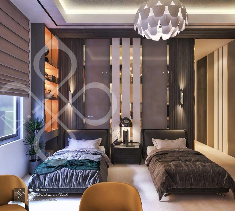 Twin Bedroom Modern Style Ksa Diebstudio Luxurious Bedrooms Modern Bedroom Modern Luxury Bedroom Luxury double bed room