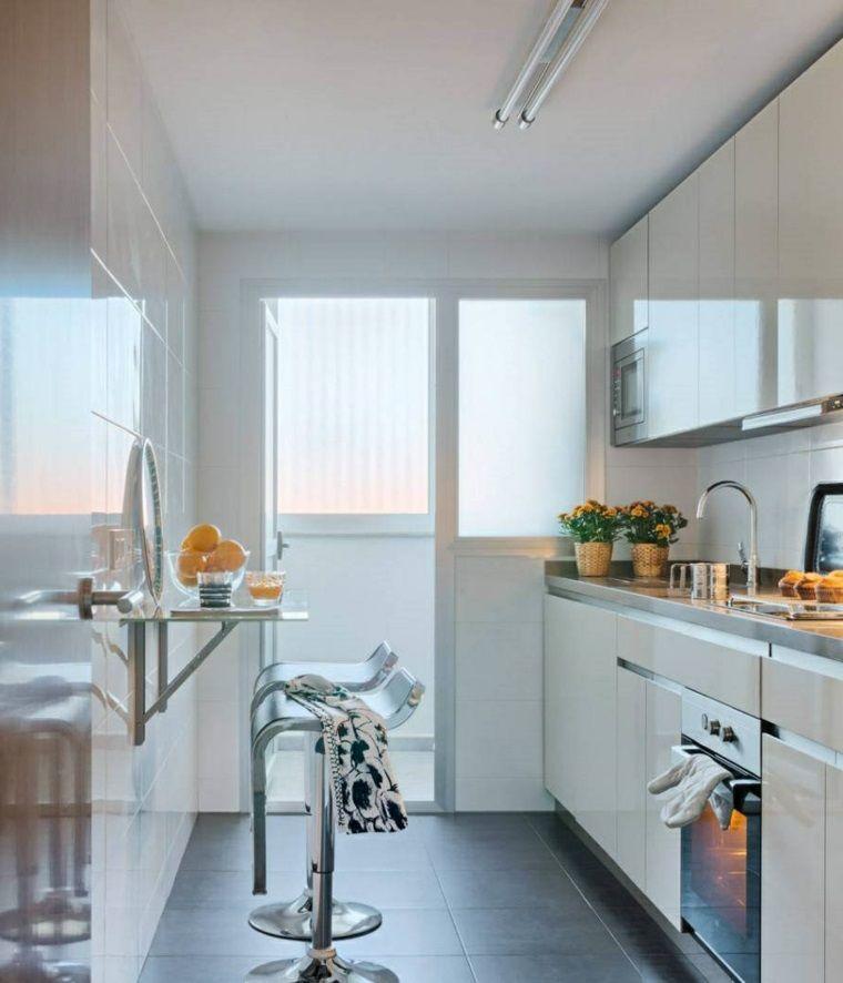 Cucine bianche per ambienti dalle dimensioni ridotte, arredare con ...