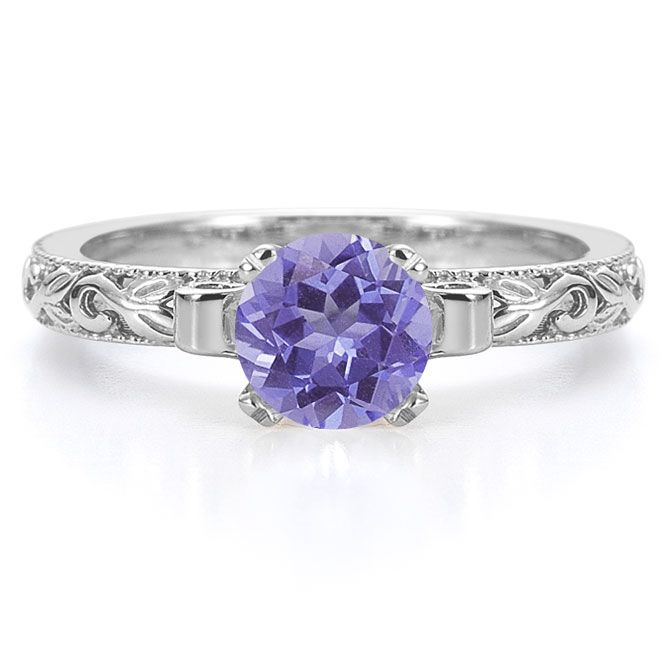 Tanzanite Engagement Rings | Carat Art Deco Tanzanite ...