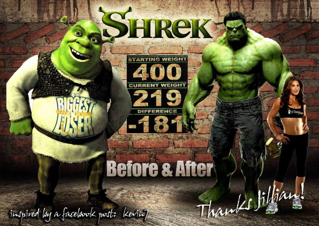 Shrek Hulk Biggest Loser Parody Satire Hulk Shrek