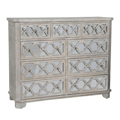 Leanne Rustic White Solid Wood Dresser By Kosas Home Drawer