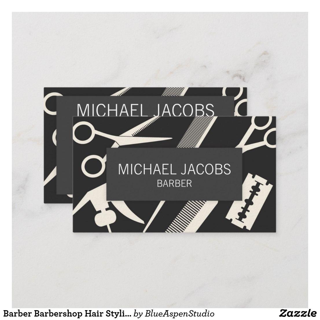 Barber Hair Stylist Men Business Card Zazzle