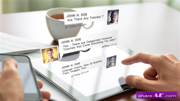 Videohive Chat Messages Pack After Effects Project After Effect - Text effect after effects template
