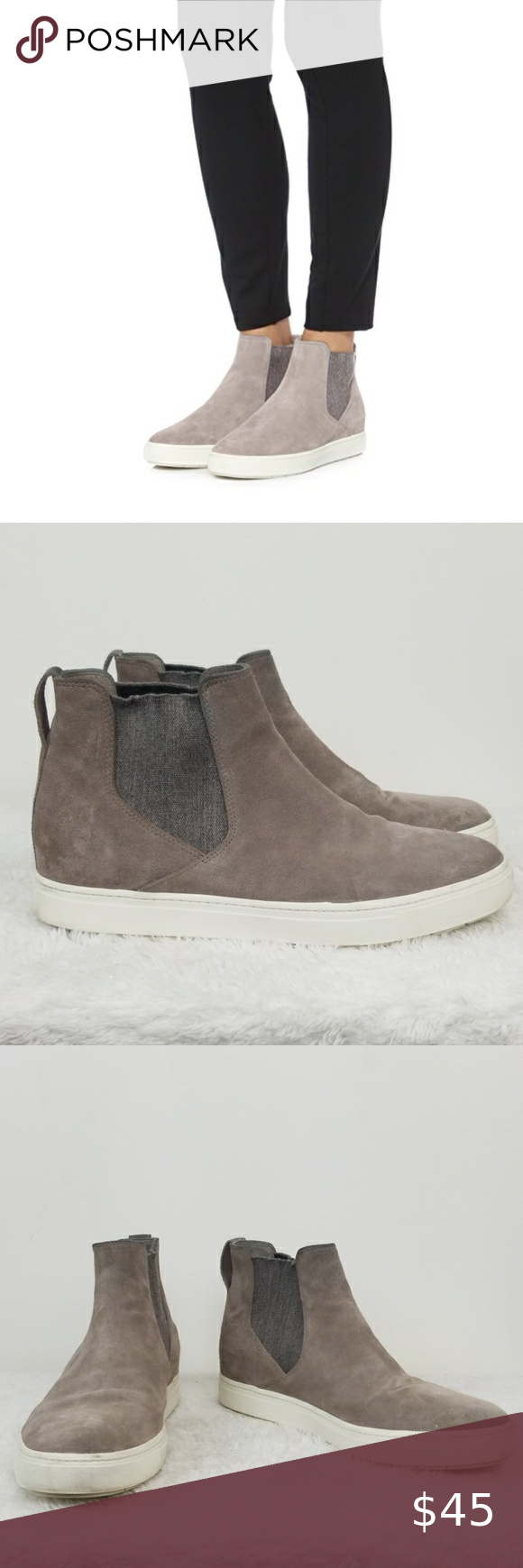 VINCE Newlyn High Top Sneaker Boots in