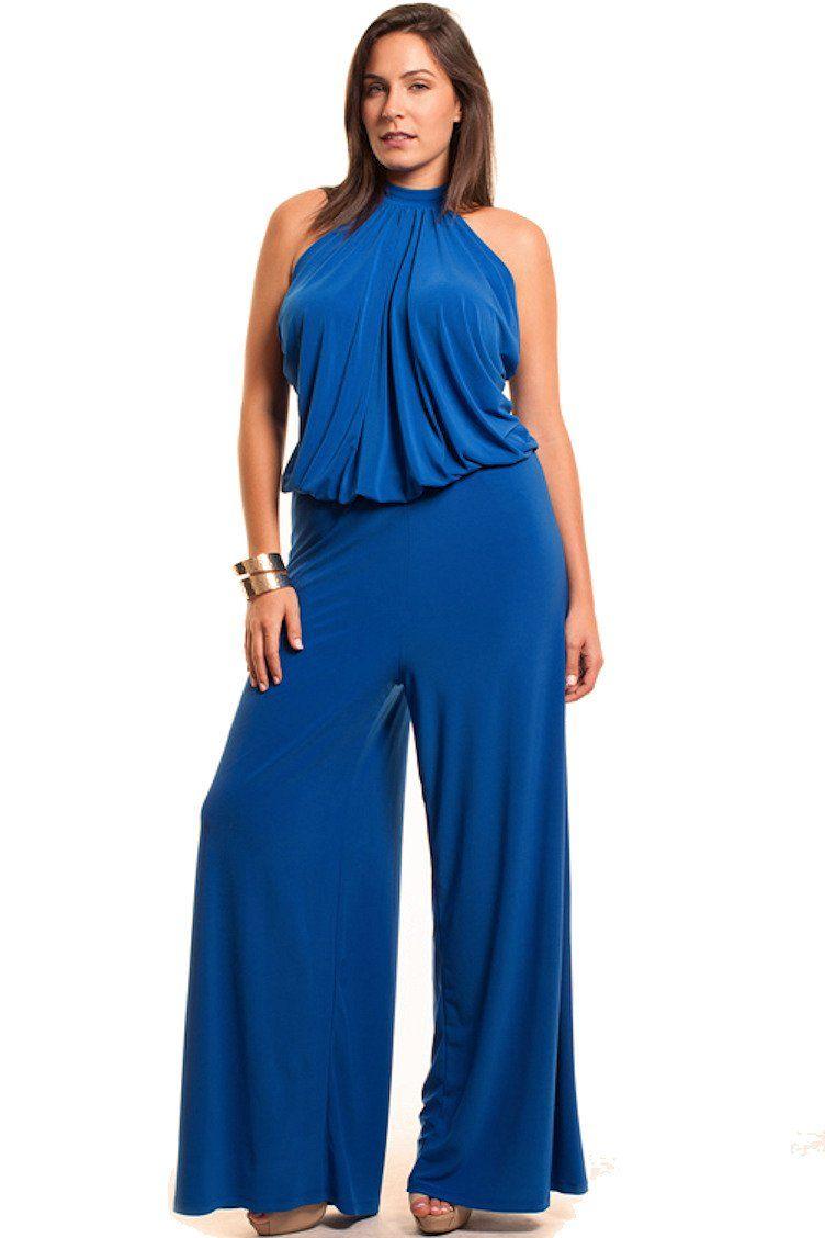 3b8d7b821830 Nyteez Women s Plus Size High Neck Wide Leg Jumpsuit