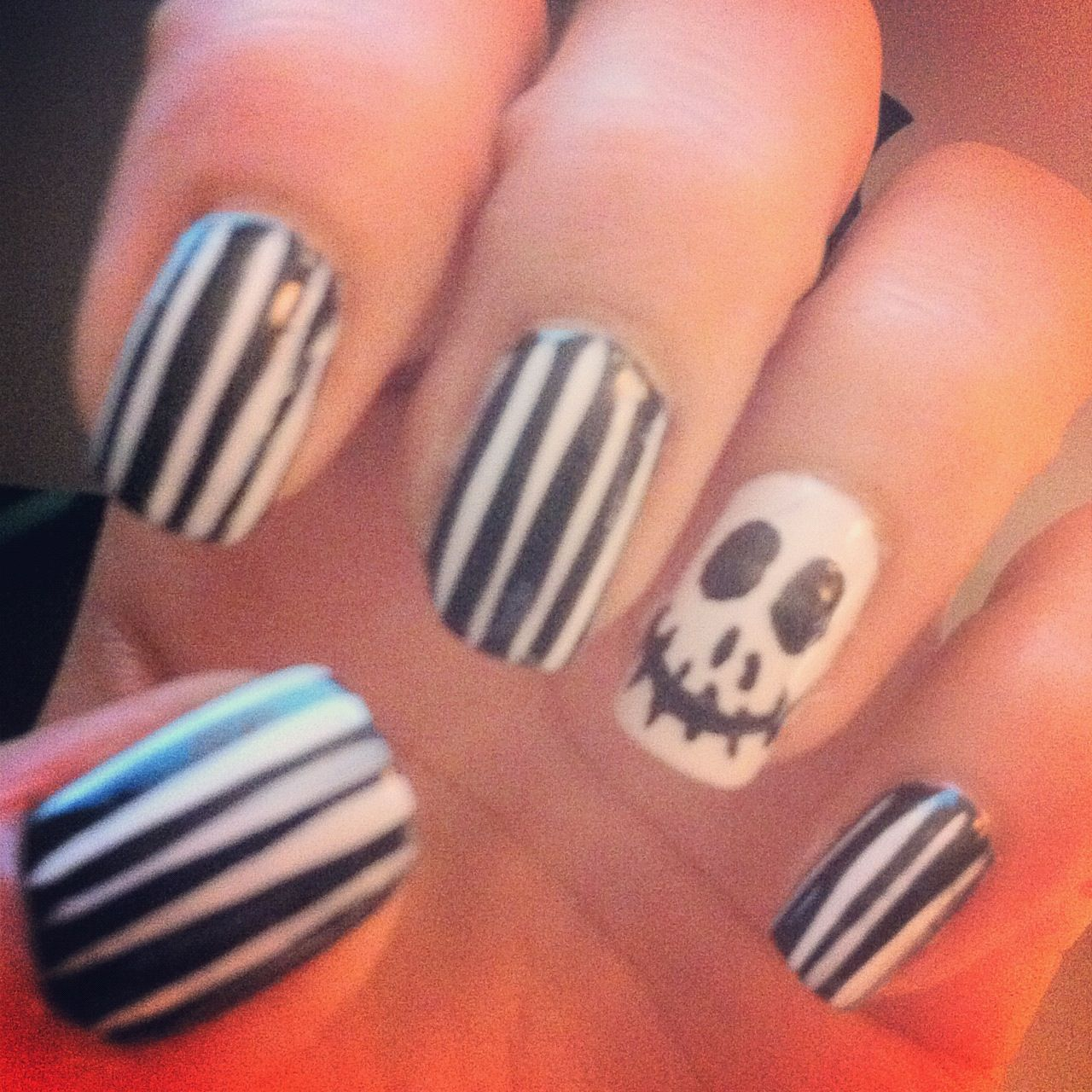 Old Fashioned Jack The Pumpkin King Nails Image Collection - Nail ...
